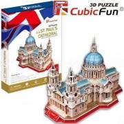 Puzzle 3D Cubicfun Catedrala Sfantul Paul, 107 piese