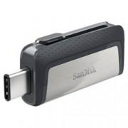 16GB USB Flash Drive, SanDisk Ultra Dual Drive, USB 3.0/USB Type-C, сива
