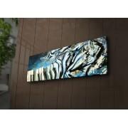 Tablou pe panza iluminat Ledda, 254LED1220, 30 x 90 cm, panza