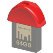 Strontium Nitro Plus Nano 64 GB Pen Drive(Red)