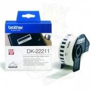 Консуматив Brother DK-22211 White Continuous Film Tape 29mm x 15.24m, DK22211