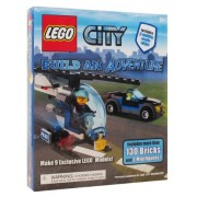Lego City Build An Adventure Set Book + 130 Bricks & 2 Minifigures NEW