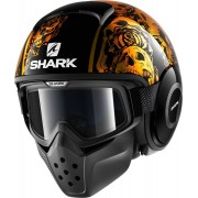 Shark Drak Sanctus Jet hjälm Svart/orange S (55/56)