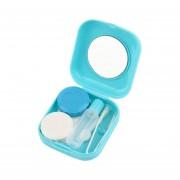 ER Mini Caja Linda De Lentes De Contacto Color Caramelo-Azul