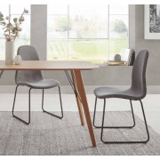 items-france PORTLAND - Lot de 4 chaises tissu 45x58x89/44cm