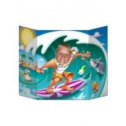 Vegaoo Fotoram med surfare 96x64 cm One-size