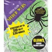Panza de paianjen glow lumina neagra