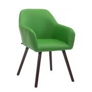 Timwood Experience Sedia Visitatore ACHAT V2 in similpelle, verde CLP, verde, altezza seduta