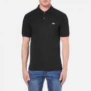 Lacoste Men's Basic Pique Short Sleeve Polo Shirt - Black - 5/L - Black