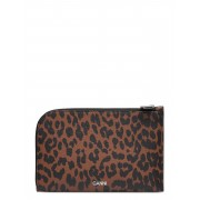 Ganni Leather Bags Card Holders & Wallets Wallets Brun Ganni