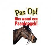 Plenty Gifts Waakbord - 'Pas op! Hier woont een paardengek'