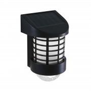 Lampa solara LED de perete, alb rece - negru - Material plastic
