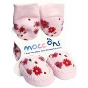 Mocc Ons - Papucei casa talpa piele, Floral
