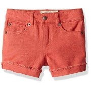 Lucky Brand Big Girls-apos; Twill Short, Jenna Spiced Coral, 7 corail 7 US /