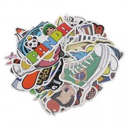 Magicdeal 100 Piece Assorted Car Sticker Luggage Skateboard Graffiti Patches Decals #D