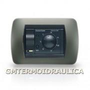 Termostato Ambiente Digitale Elettronico Da Incasso Fantini Cosmi Modello C48 A Batteria Regolatore Temperatura Comando Caldaia E Condizionamento Colore Antracite