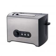 Тостер за хляб ZEPHYR ZP 1440 Y, 900W, 2 филийки, 7 степени, Таймер, Тавичка за трохи, Сребрист/черен