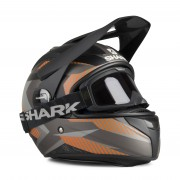 Shark Adventurehjälm Shark Explore-R Peka Svart-Brun Beige