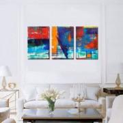 Tablou Canvas Premium Abstract Multicolor Culori Vii Decoratiuni Moderne pentru Casa 3 x 70 x 100 cm
