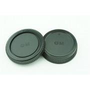 Achterdop+Bodydop (2 stuk): Olympus OM mount camera lens