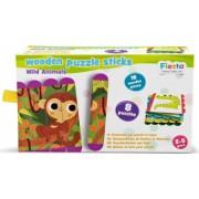 Set puzzle-uri din betisoare lemn - Animale salbatice Fiesta Crafts FCT-2931
