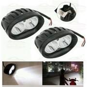 Andride 2 Pcs Of White Oval Shape 20 Watt Cree Car / Bike Led Fog Light Bar Waterproof (White)