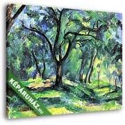 Paul Cézanne: Az erdőben (30x25 cm, Vászonkép )