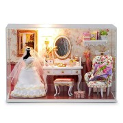 CuteRoom T-001 Love You Forever DIY Dollhouse Kit Miniature Model With Light Cover