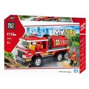 Joc constructie, My Fire Brigade, Cisterna pompieri, 213 piese Blocki