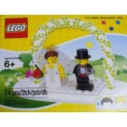 LEGO Mini Figure Set Wedding Bride Groom Table Decoration (#853340)