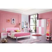Set mobilier Danube din MDF pentru camera copii 3 piese: pat 120 x 200 cm dulap 3 usi si birou