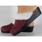Papuci de casa visinii din plus dama/dame/femei (cod 110)