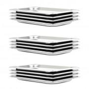 vidaXL 12 db rozsdamentes acél Gasztronorm edény GN 1/3 20 mm