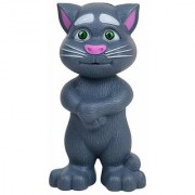 Intelligent Talking Cat with Touch Recording Story Rhymes and Songs (Grey)