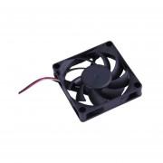 ABS Negro 7cm 12 V El Rodamiento De Bolas De Ahorro De Energía Del Ventilador De Refrigeración Del Caso Para El Equipo