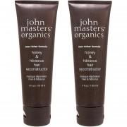 2 PCS John Masters Organics Honey Hibiscus Reconstructor Tratamiento Nuevo