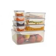 Set 8 caserole de depozitat alimente Andrew James AJ000750, Fara BPA.