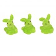 Cosy & Trendy 3x Groen pasen paashaas/konijn decoratie figuur/beeld