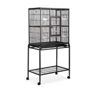 i.Pet Large Bird Cage with Perch - Black [PET-BIRDCAGE-B030-BK]