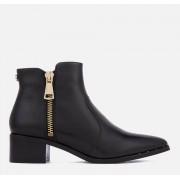 Steve Madden Women's Dylles Leather Heeled Ankle Boots - Black - UK 6 - Black