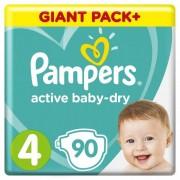 Pampers Подгузники Active Baby-Dry Maxi р.4 (9-14 кг) 90 шт.