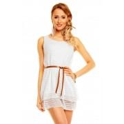 Bílé dámské letní šaty s páskem Fortuna