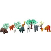 Zaid Collections mini World Animal Toys with Trees - All Kinds of Animal Toys Like Wild Animals, Farm Animals etc( MINI SIZE)