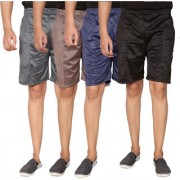 Swaggy Solid Mens Short Combo of 4