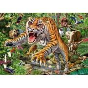 Puzzle Schmidt - Atacat de tigru, 500 piese (58226)