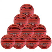 spalding Basketballpaket (10 Stück) NEVERFLAT Rubberball (Outdoor) -