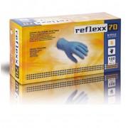 Reflexx Guanti In Nitrile Monouso Taglia L Azzurro 70 Confezione 100 Pz