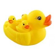 Rikirit Chu Chu Duck Family Bath Bathing Toys Set - Duck Toy for Kids