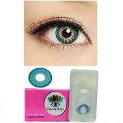 Attractive Diamond Eye UNISEX BLUE Color MONTHLY disposable CONTACT LENSES ( ZERO POWER)