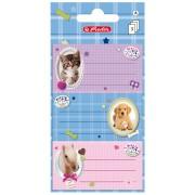Etichete scolare, 3 x 3 coli/set, HERLITZ Pretty Pets Pisica/Caine/Cal